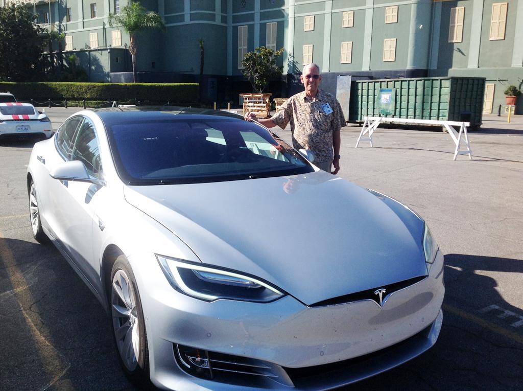 Art Hawkins and his Tesla