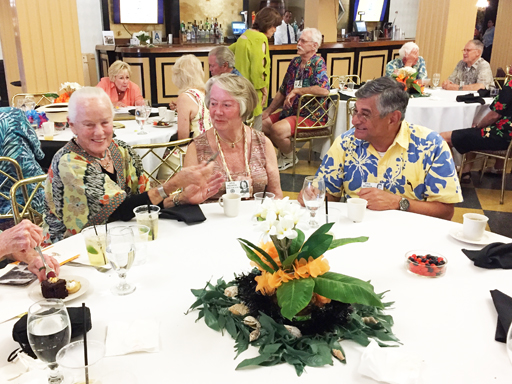 Shirlee Edwards, Barbara Hutchinson and husband John Bedrossian