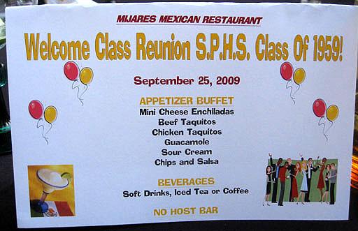 Mijares welcome menu