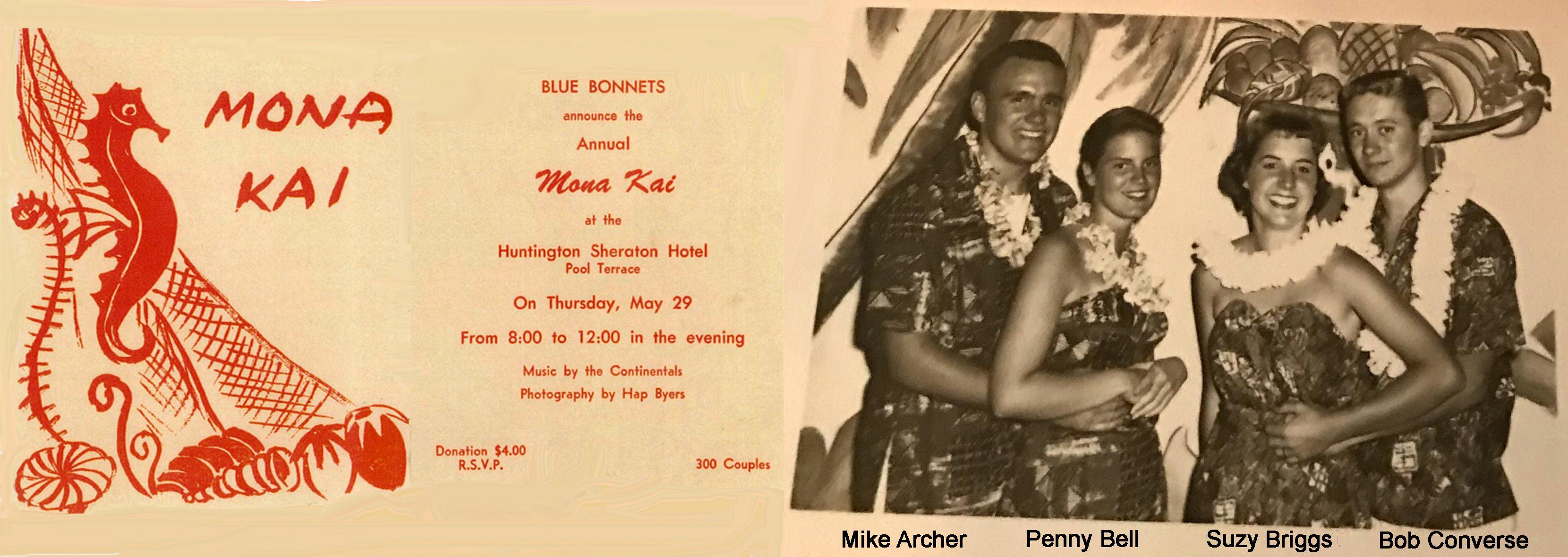 Mona Kai Invite 1958